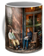 City - New York - Greenwich Village - The Path Cafe  Coffee Mug by Mike Savad