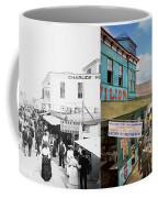City - Ny - The Bowery 1900 - Side By Side Coffee Mug