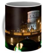 City Of Dublin At Night In Ireland Coffee Mug