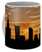 City Of Warsaw Skyline Silhouette Coffee Mug
