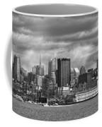 City - Skyline - Hoboken Nj - The Ever Changing Skyline - Bw Coffee Mug