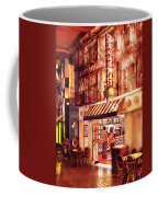 City - Vegas - Ny - Broadway Burger Coffee Mug by Mike Savad