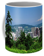 City With Mt. Hood In The Background Coffee Mug
