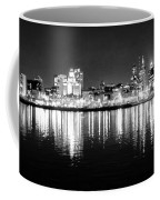 Cityscape In Black And White - Philadelphia Coffee Mug