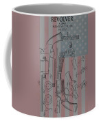 Civil War Revolver American Flag Coffee Mug