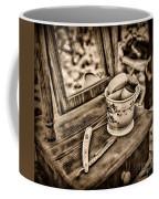Civil War Shaving Mug And Razor Black And White Coffee Mug