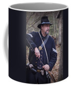Civil War Union Soldier Reenactor Loading Musket Coffee Mug
