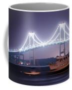 Claiborne Pell Bridge At Night Coffee Mug