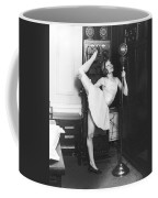 Clair Luce Exercising On Radio Coffee Mug