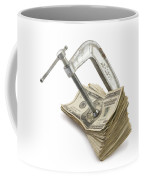 Clamp Putting Pressure On American Money Concept Coffee Mug