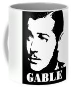 Clark Gable Black And White Pop Art Coffee Mug
