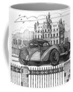 Classic Auto With Chateau Coffee Mug