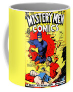 Classic Comic Book Cover - Mystery Men Comics - 1200 Coffee Mug by Wingsdomain Art and Photography