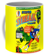 Classic Comic Book Cover - Silver Streak Comics Captain Battle - 0250 Coffee Mug by Wingsdomain Art and Photography