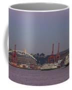 Classic Full Moon And Ferries Panorama Coffee Mug