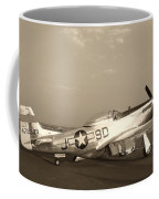 Classic P-51 Mustang Fighter Plane Coffee Mug