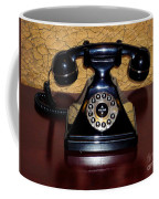 Classic Rotary Dial Telephone Coffee Mug