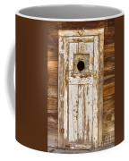 Classic Rustic Rural Worn Old Barn Door Coffee Mug