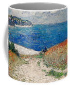Claude Monet's Path In The Wheat Fields At Pourville-1882 Coffee Mug