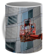 Cleaning Skyscraper Window And Wall With Snorkel Singapore Coffee Mug