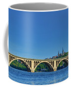 Clear Blue Skies At Key Bridge Coffee Mug