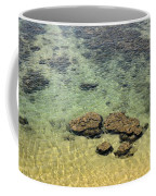 Clear Indian Ocean Water With Rocks At Galle Sri Lanka Coffee Mug