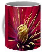 Clematis Center In Oils Coffee Mug