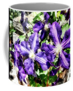 Clematis On A Stone Wall Coffee Mug