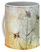 Clematis Virginiana Seed Head Textures Coffee Mug