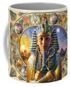 Cleo Tut Neffi Triptych Coffee Mug by Andrew Farley