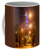 Cleveland Downtown Street View At Night Coffee Mug