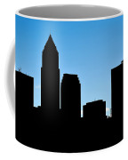 Cleveland In Silhouette Coffee Mug by Frozen in Time Fine Art Photography
