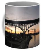 Cleveland Ohio Flats At Sunset Coffee Mug