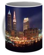 Cleveland Panoramic Night Coffee Mug
