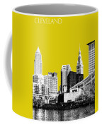 Cleveland Skyline 3 - Mustard Coffee Mug