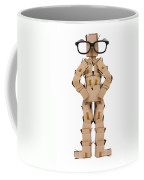 Clever Box Character Wearing Glasses Coffee Mug