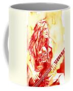 Cliff Burton Playing Bass Guitar Portrait.1 Coffee Mug