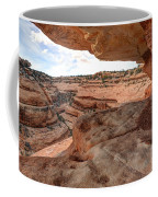 Cliff Overhang In Southwest Sandstone Canyon - Utah Coffee Mug by Gary Whitton