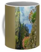 Cliffside Sea Thrift Coffee Mug by Jeff Kolker