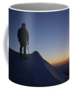 Climber Enjoying A Sunrise Coffee Mug