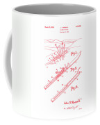 Climber For Skis 1939 Russell Patent Art Red On White Coffee Mug