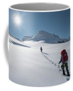 Climbers Nearing The Summit Coffee Mug