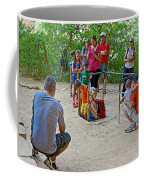 Climbing Down The Ladder Into A Kiva At Spruce Tree House In Mesa Verde National Park-colorado Coffee Mug