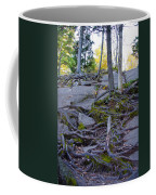 Climbing The Rocks Of Bald Mountain Coffee Mug
