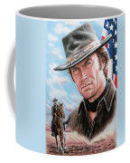 Clint Eastwood American Legend Coffee Mug by Andrew Read