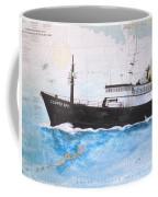 Clipper Epic Longline Fishing Boat Nautical Chart Map Art Coffee Mug