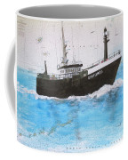 Clipper Express Longline Fishing Boat Nautical Chart Map Art Coffee Mug