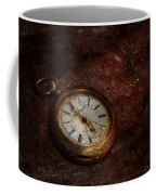 Clock - Time Waits Coffee Mug by Mike Savad