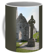 Clonmacnoise Cathedral  And High Cross Ireland Coffee Mug