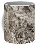 Close Crocodile  Coffee Mug